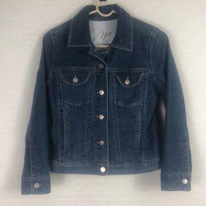 J Jill XSP Denim Button Up Jacket